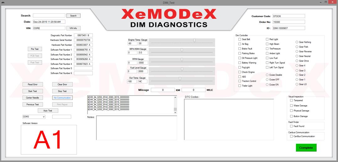 Driver Information Module / Instrument Cluster Repair & Return For Volvo